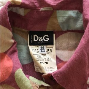 Cotton shirt made in Italy D&G authentic
